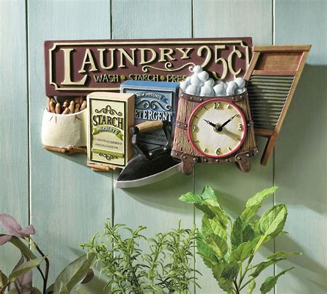 old fashioned home decor nostalgic laundry clock old fashioned decor