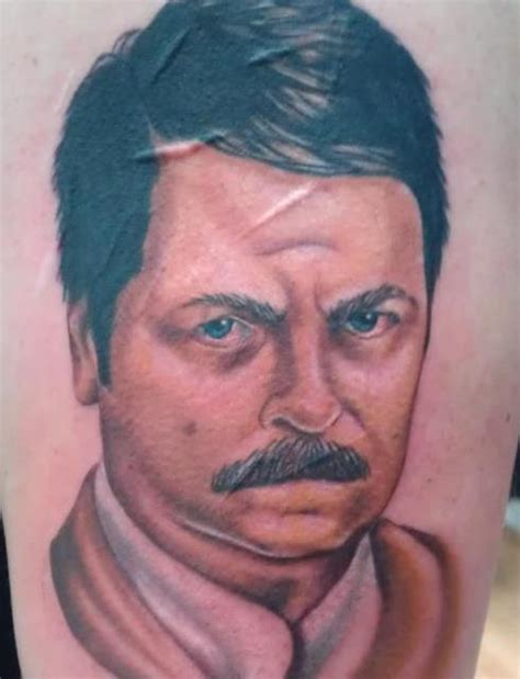 ron swanson tattoo tv everyview
