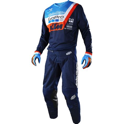 ktm motocross gear troy designs 2018 mx gear air navy ktm team tld