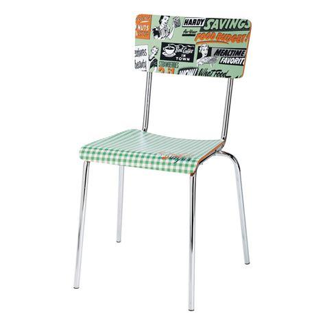 la chaise verte chaise vintage verte r 233 clam maisons du monde