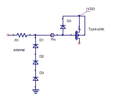 diodes in series opposing diodes in antenna effect