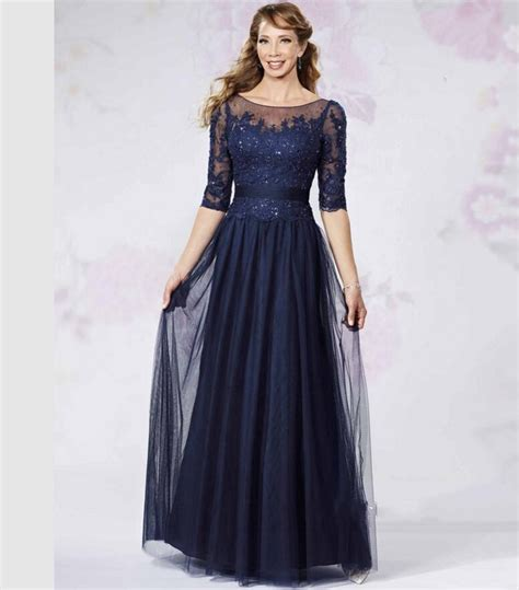 vintage 2016 navy blue lace get cheap mothers dresses aliexpress