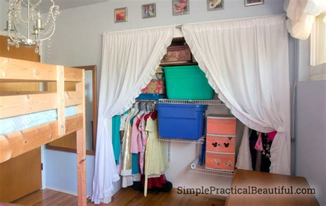 How To Make A Closet With Curtains by Closet Curtains Made From Sheets Simple Practical Beautiful