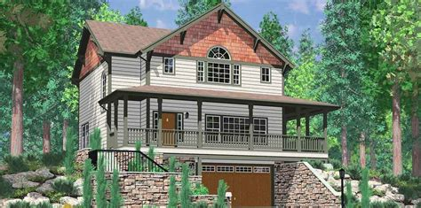 front sloping lot house plans for the front sloping lot 8131lb architectural designs