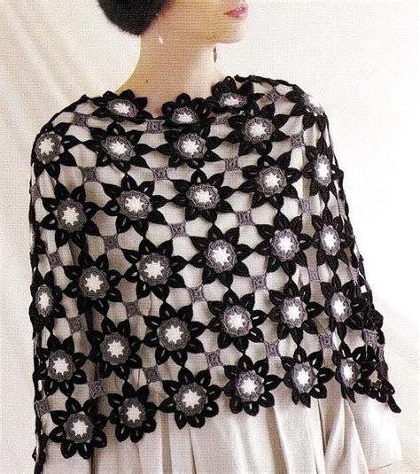 Pashmina Pop Motif 12 Flower Motif Shawl Crochet Free Pattern Crochet Kingdom