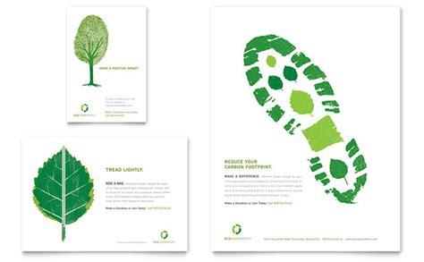 environmental non profit flyer ad template design