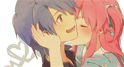 anime cheek kiss anime kiss on cheek car interior design