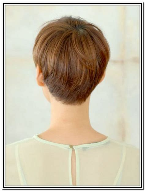 front side bavk views of short hair cuts back views of short haircuts for women pixie haircuts