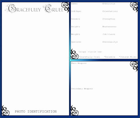 biography card template 9 ms word biography template sletemplatess