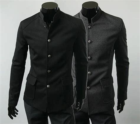 Coat Blezer Korea korean style neck jackets mens casual basic coats slim fit blazers outwear ebay