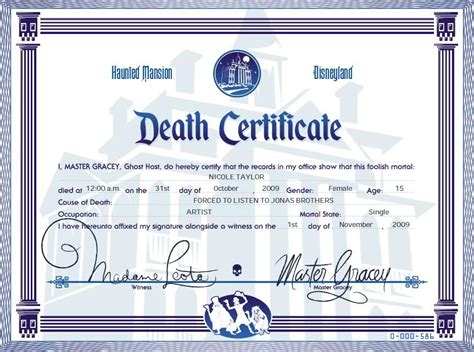 fun make your own death certificate