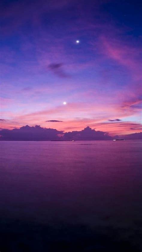 purple sunsetocean horizon landscape iphone