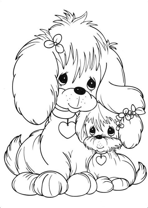 puppies precious moments coloring child coloring