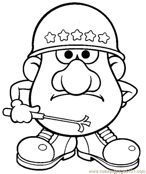 Mr Potato Head 005 Coloring Page Free Mister Potato Potato Coloring Pages