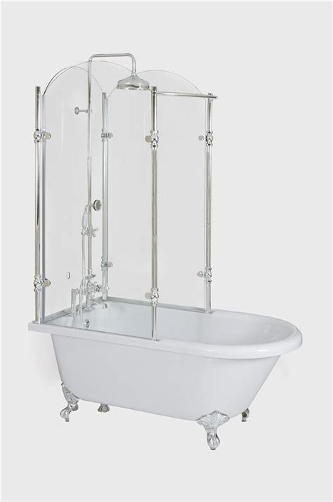 bathtub with glass oasis vintage antique clawfoot tub with glass shower surround