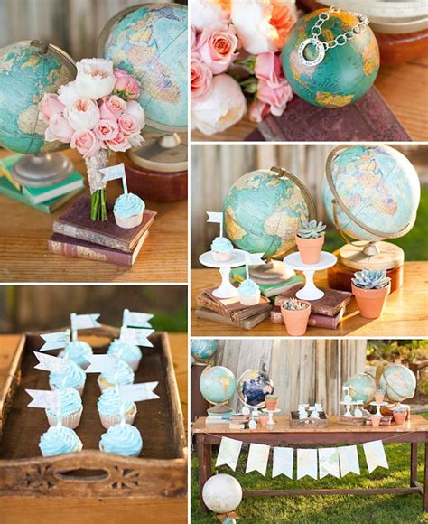 travel themed home decor home decor quot love makes the world go round quot party travel