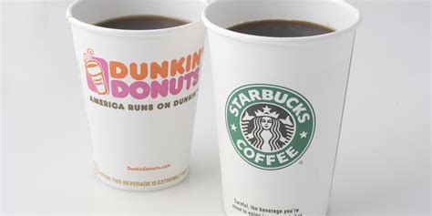 Coffee Dunkin Donuts starbucks vs dunkin we found out which is america s