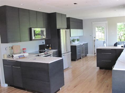 flat kitchen cabinets black oak flat panel cabinets