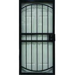 shop larson geneva black steel security door common 36