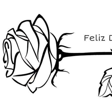 imagenes de rosas sin pintar una rosa para pintar y regalar el d 237 a del libro edukame