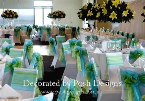 lime green and turquoise wedding   Posh Designs Wedding