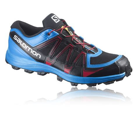 shoes for sports salomon fellraiser fell mens blue black running trainers