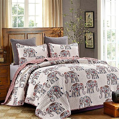 bed bath and beyond bedding sale caravan reversible quilt set in rose bed bath beyond
