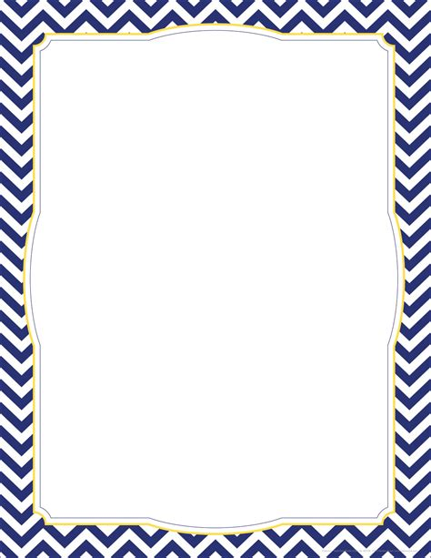 Chevron Page Border Template Www Imgkid Com The Image Chevron Border Template