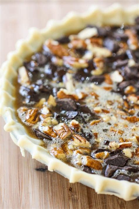 chocolate bourbon pecan pie cheesecake pie chocolate