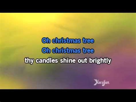 o christmas tree karaoke youtube