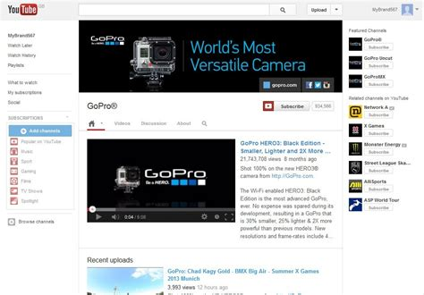 youtube one channel layout creating optimising a new youtube one channel design