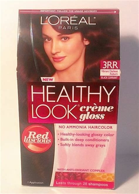 3 x l oreal healthy look creme gloss hair color latte 7 new ebay free l oreal healthy look creme gloss non permanent color 3rr vibrant darkest auburn hair