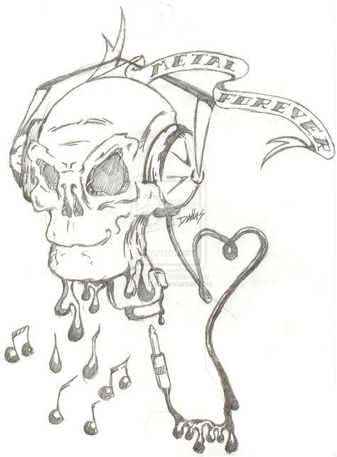 metal tattoo designs metal forever design metal skull