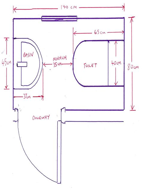 minimum size for a downstairs toilet with bathroom