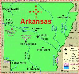 Arkansas Map Usa by Mrs Cady Arkansas