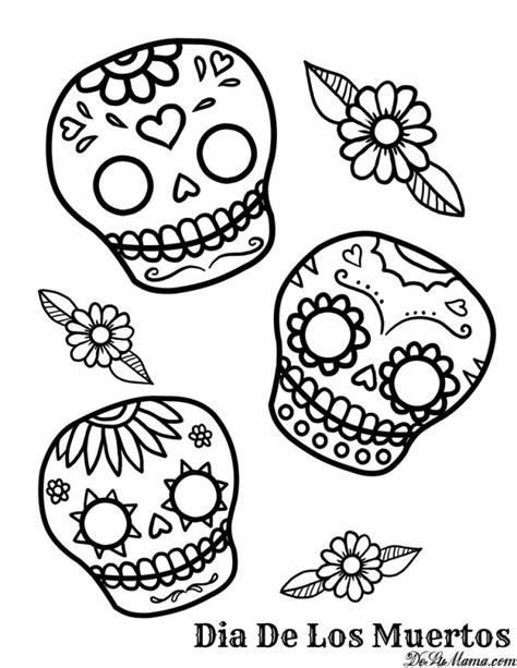 coloring pages of dia de los muertos dia de los muertos coloring pages printable az coloring