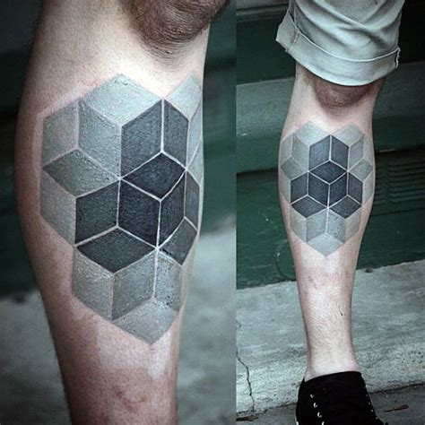 escher tattoo 15 escher cube tattoos