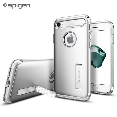 Spigen Slim Armor Iphone 6 4 7 Satin Silver husa iphone 7 6s originala spigen slim armor satin silver