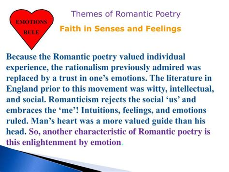 themes of enlightenment literature ppt the romantic period 1798 1832 powerpoint