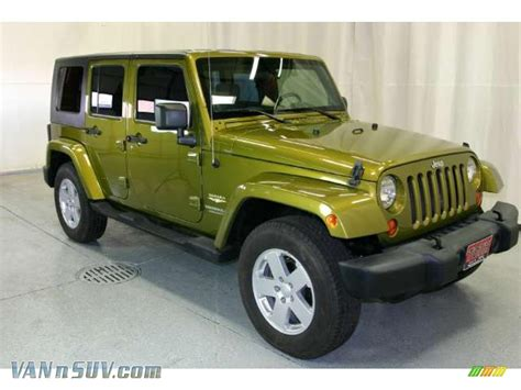 jeep wrangler green 2007 jeep wrangler unlimited 4x4 in rescue green