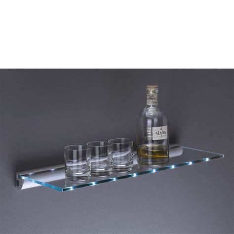 Led Light Shelf Glass by Led Lit Glass Shelf Kit 600x200x8mm Mastershelf