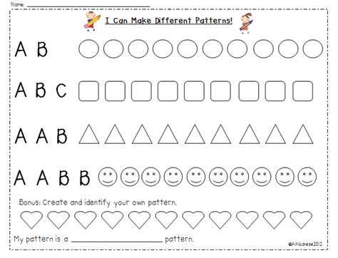 making patterns activities for kindergarten mrs albanese s kindergarten class can you see a pattern