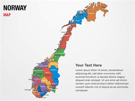 powerpoint themes norway norway map powerpoint map slides norway map map ppt