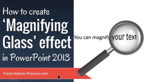 How To Make A Magnifying Glass Out Of Paper - how to create magnifying glass effect in powerpoint 2013