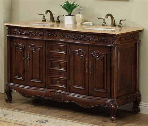 antique looking bathroom vanities 60 inch antique style double sink bathroom vanity cabinet