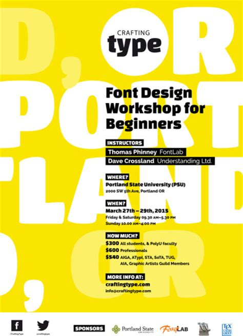 type image message a graphic design layout workshop font design workshop for beginners portland state