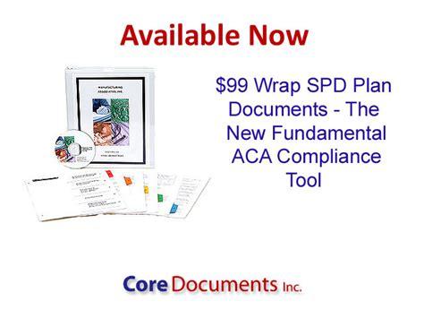 core documents section 125 core documents adds 99 erisa summary plan description