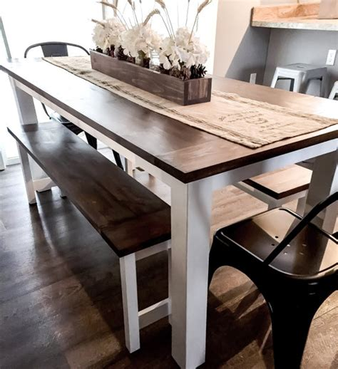 diy farmhouse table plans  benches woodworking plans