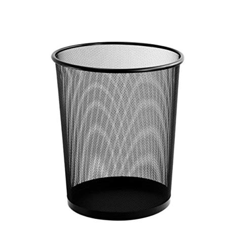 office garbage cans black rubbermaid soft molded