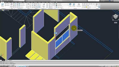 imagenes en 3d autocad tutorial autocad 3d 2012 espa 241 ol modelar una casa parte 2